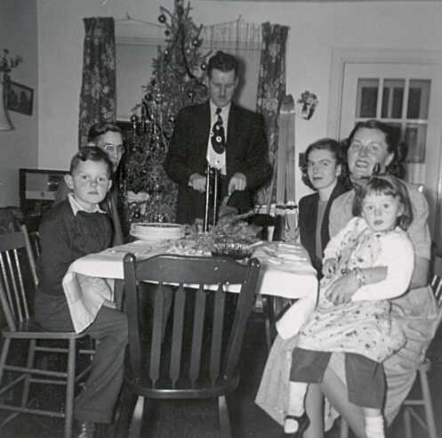 Dobie and Seger Family, Christmas, 1948, Kearns, Ontario.