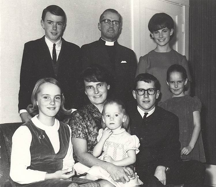Family of George and Helen Dobie, Christmas, 1965.