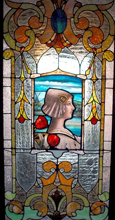 Stained glass window at 12 South High Street, Thunder Bay Ontario.